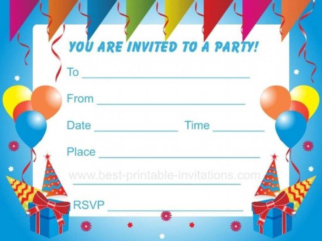 003 Top Birthday Party Invitation Template Word Highest Quality  40th Wording Sample Unicorn FreeLarge