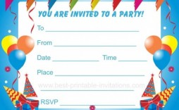 003 Top Birthday Party Invitation Template Word Highest Quality  40th Wording Sample Unicorn Free