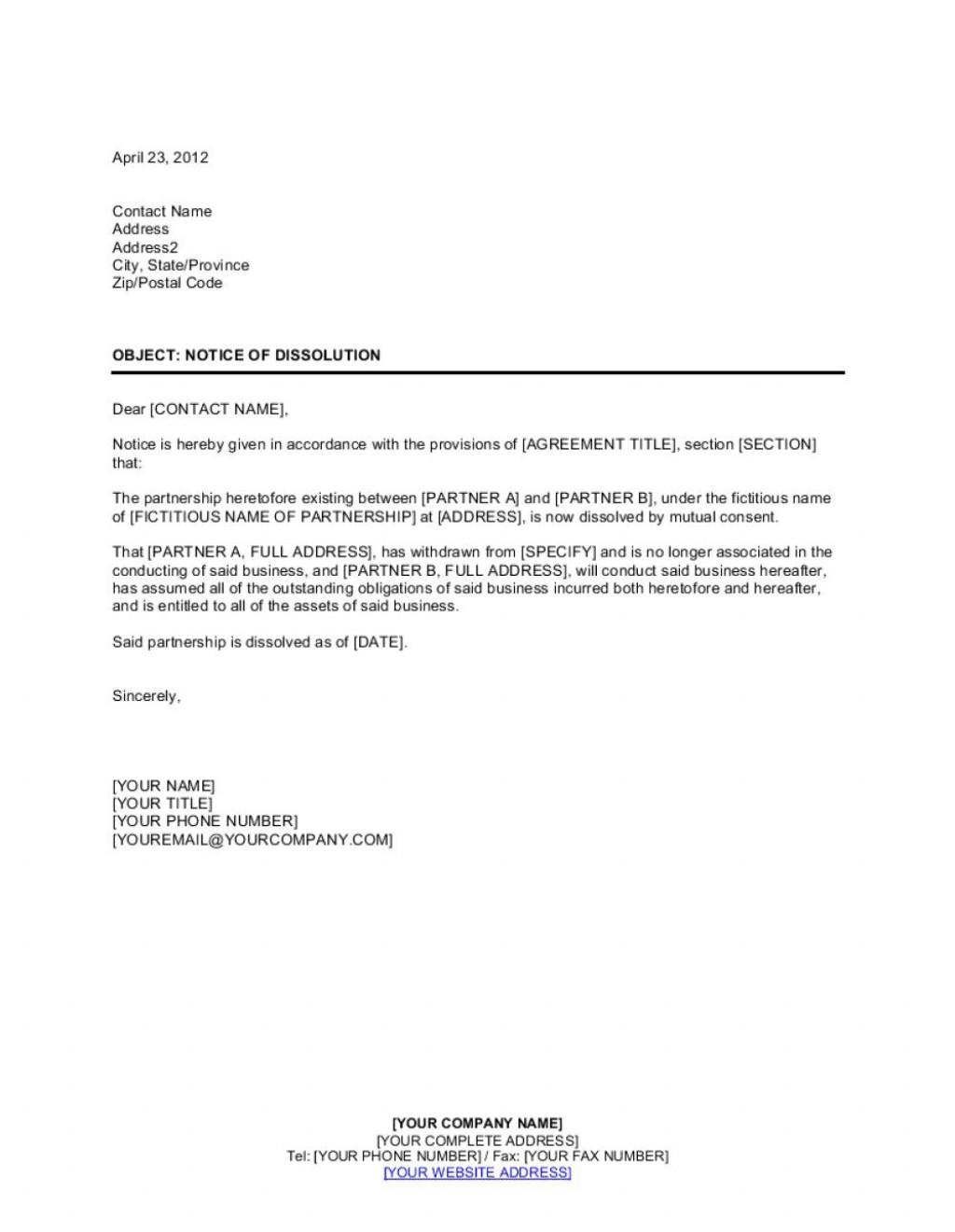 003 Top Busines Partnership Separation Agreement Template Photo  Partner TerminationLarge