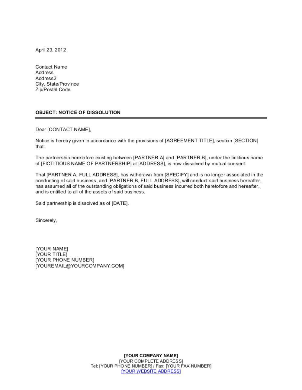 003 Top Busines Partnership Separation Agreement Template Photo  Partner TerminationFull