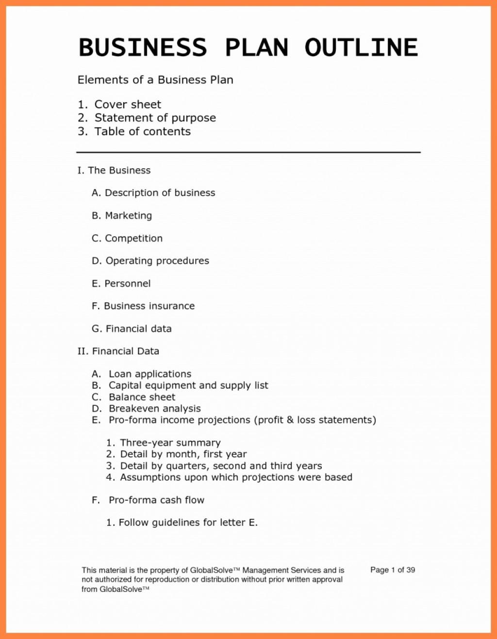 003 Top Busines Plan Template Pdf Image  Restaurant Sample Free Example Uk DocLarge