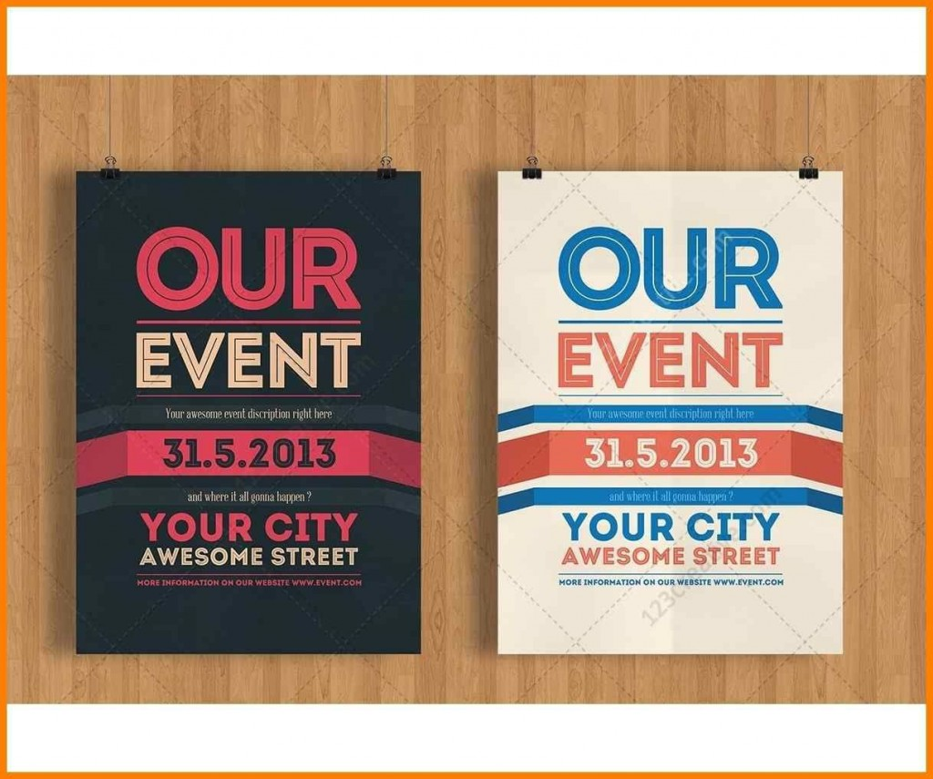 003 Top Event Flyer Template Word High Resolution  Free SpringLarge