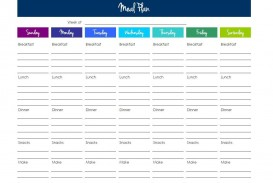003 Top Excel Weekly Meal Planner Template Idea  With Grocery List Downloadable