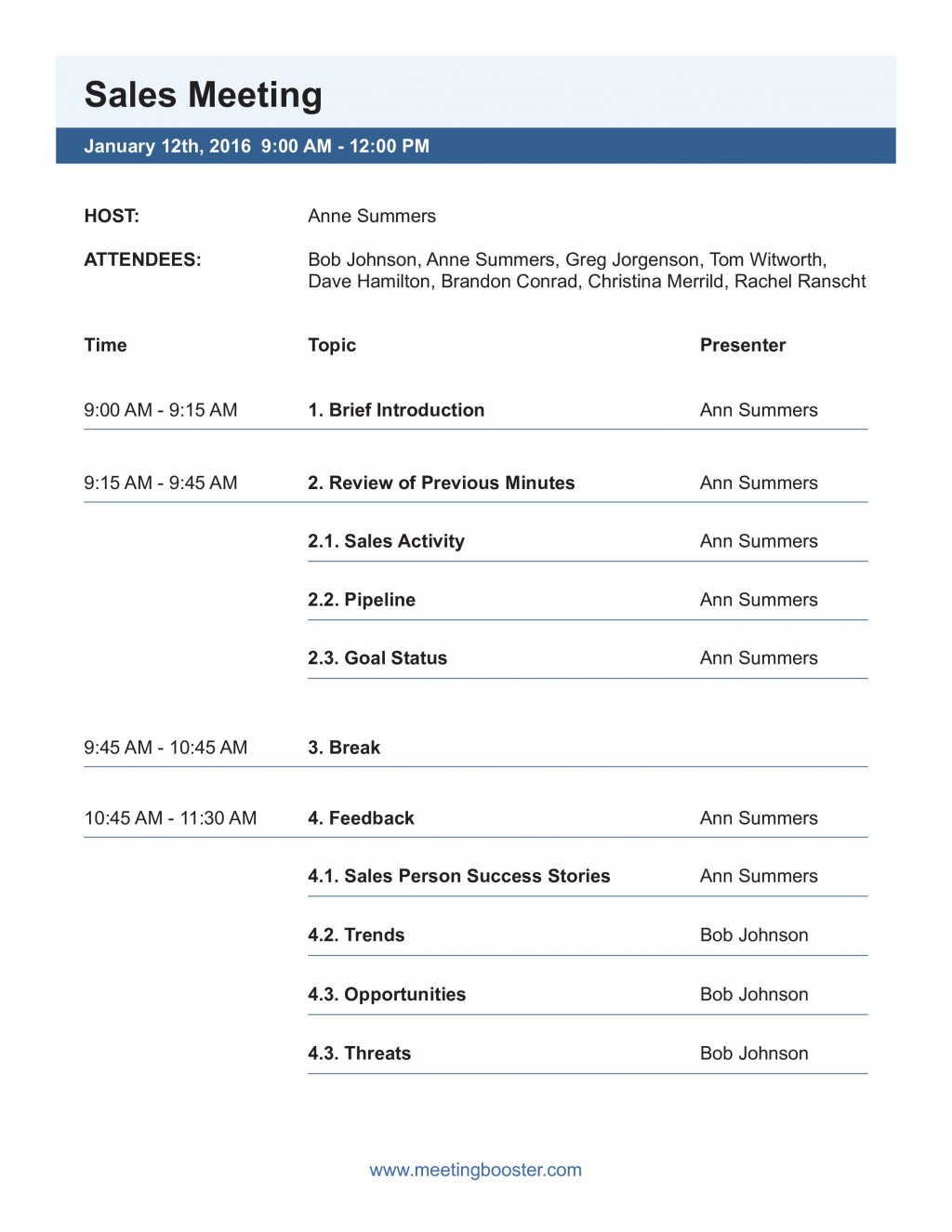 003 Top Formal Meeting Agenda Template Picture  Board Example PdfLarge