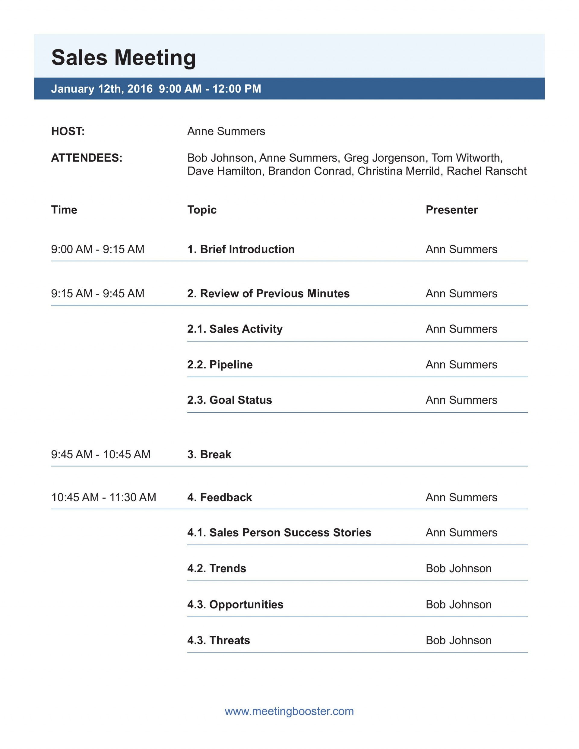 003 Top Formal Meeting Agenda Template Picture  Board Example Pdf1920