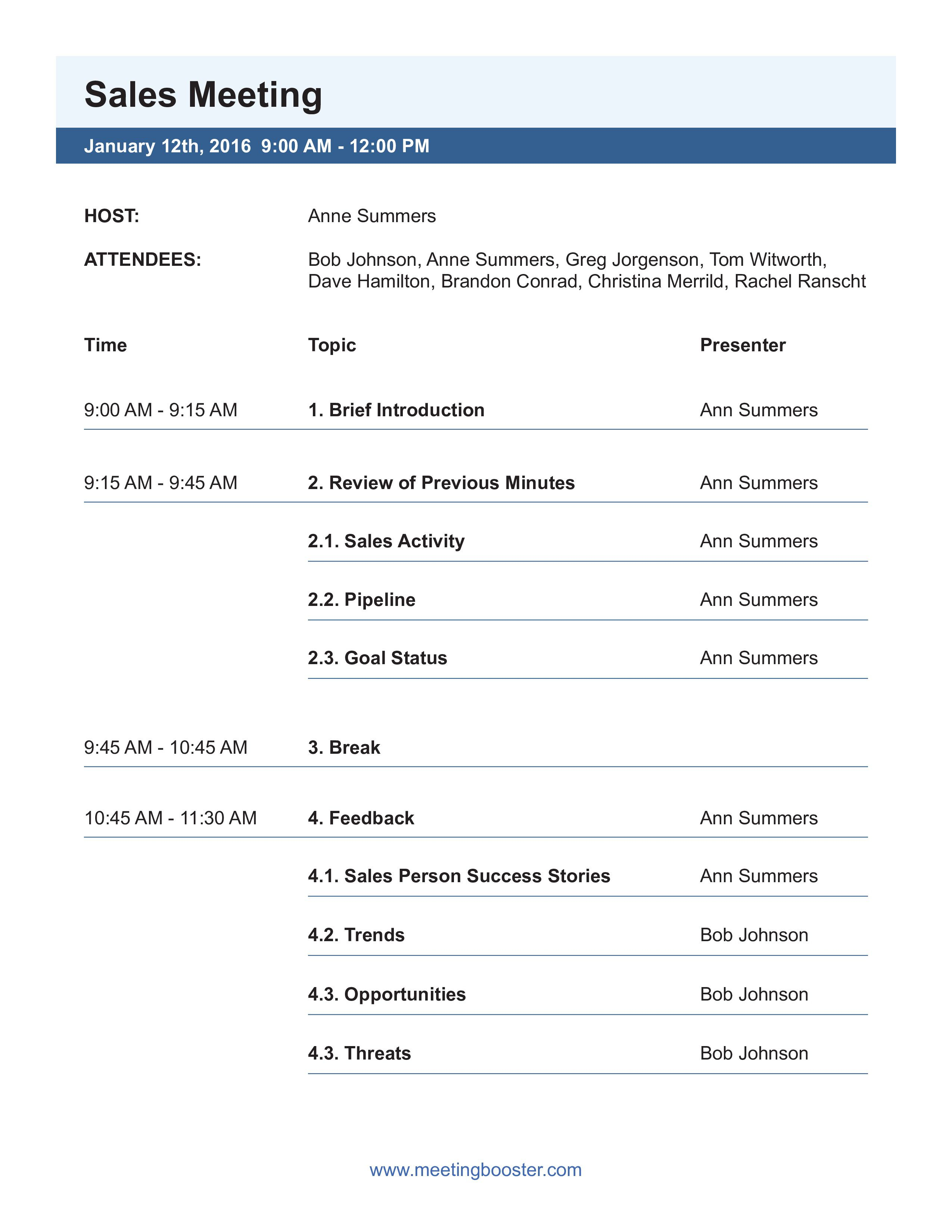 003 Top Formal Meeting Agenda Template Picture  Board Example PdfFull