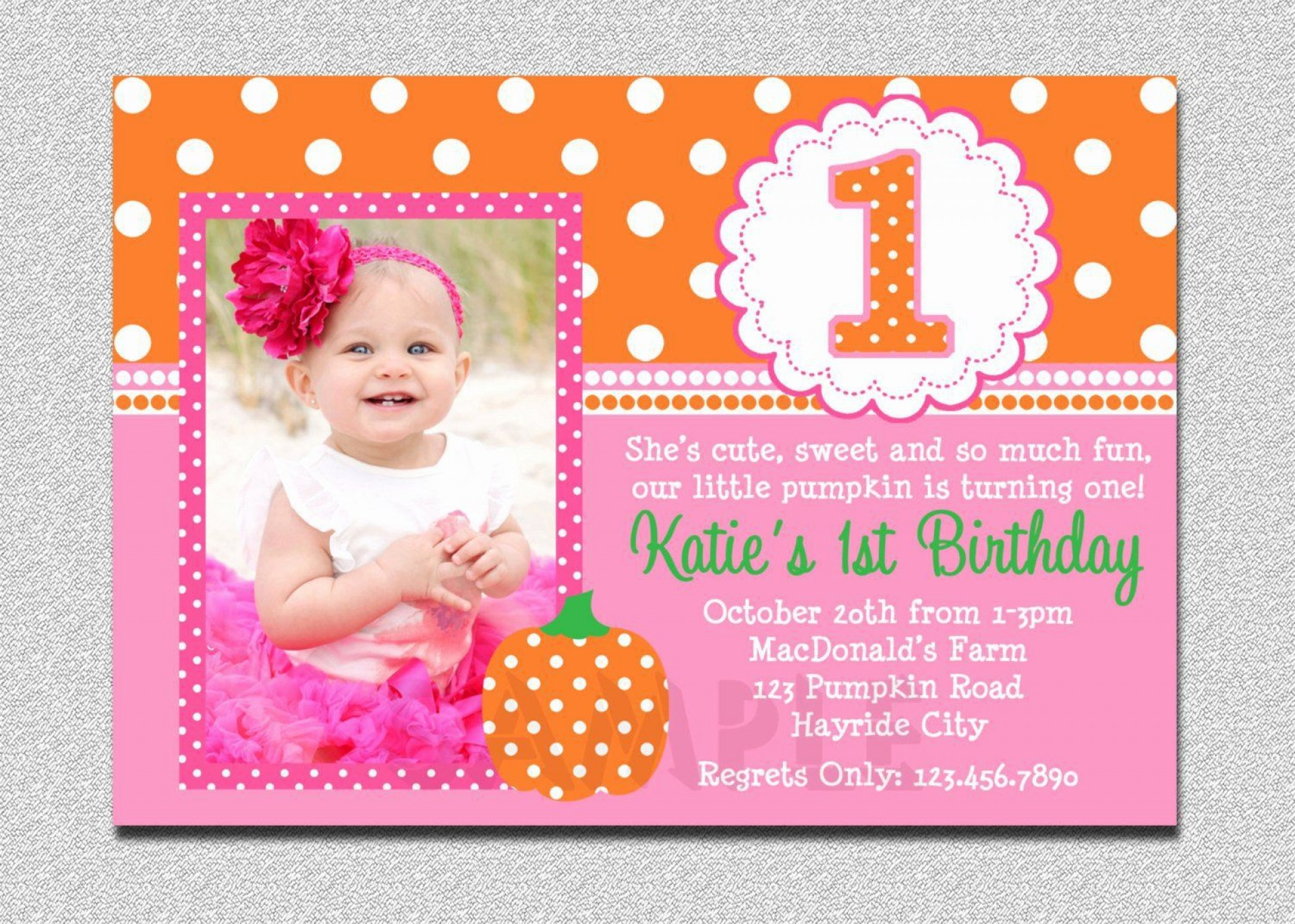 003 Top Free 1st Birthday Invitation Template For Word Example 1920