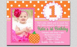 003 Top Free 1st Birthday Invitation Template For Word Example