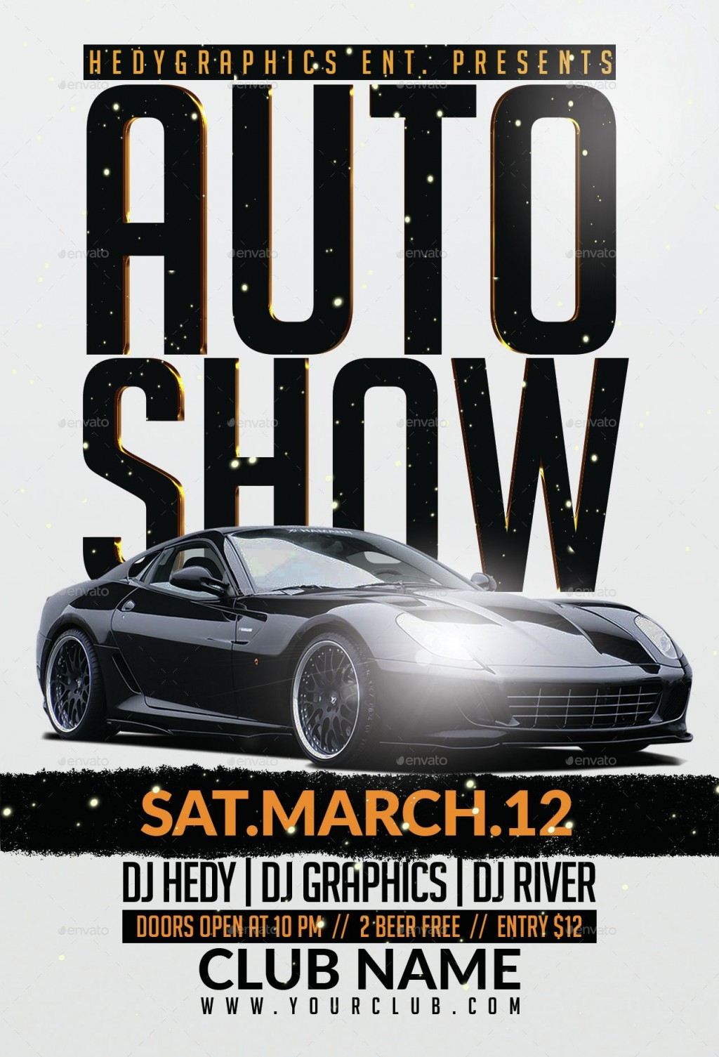 003 Top Free Car Show Flyer Template Image  Psd And BikeLarge