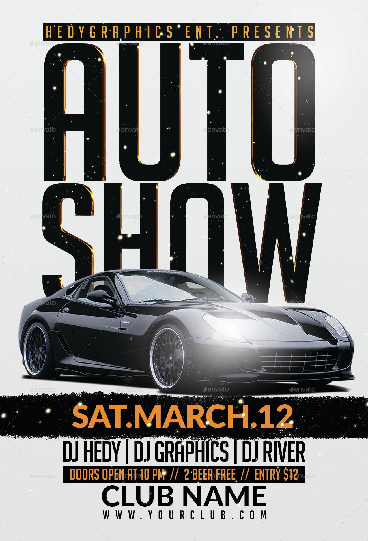003 Top Free Car Show Flyer Template Image  Psd And BikeFull