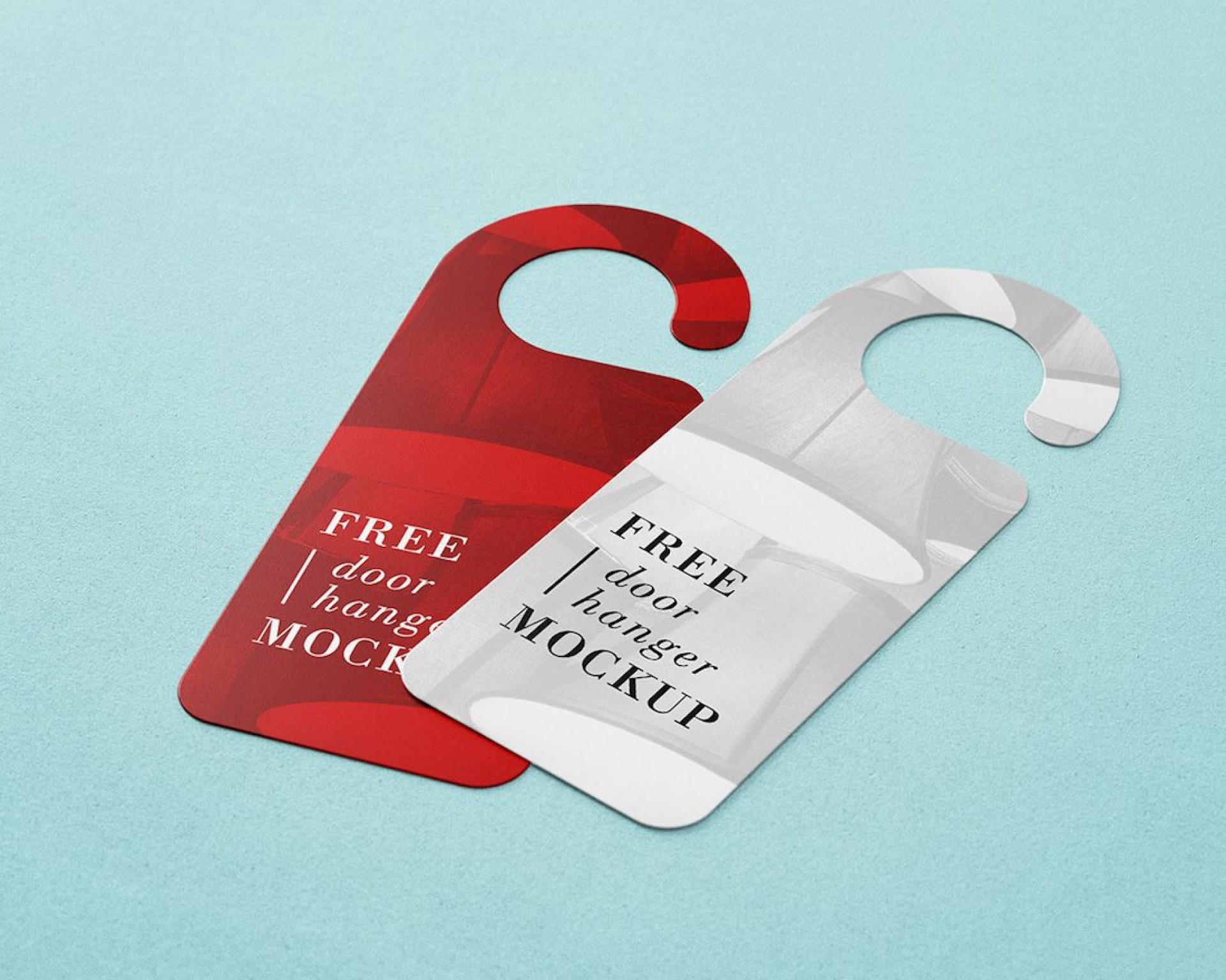 003 Top Free Door Hanger Template Picture  Templates Printable Wedding Blank Doorknob1920