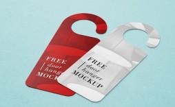 003 Top Free Door Hanger Template Picture  Templates Printable Wedding Blank Doorknob