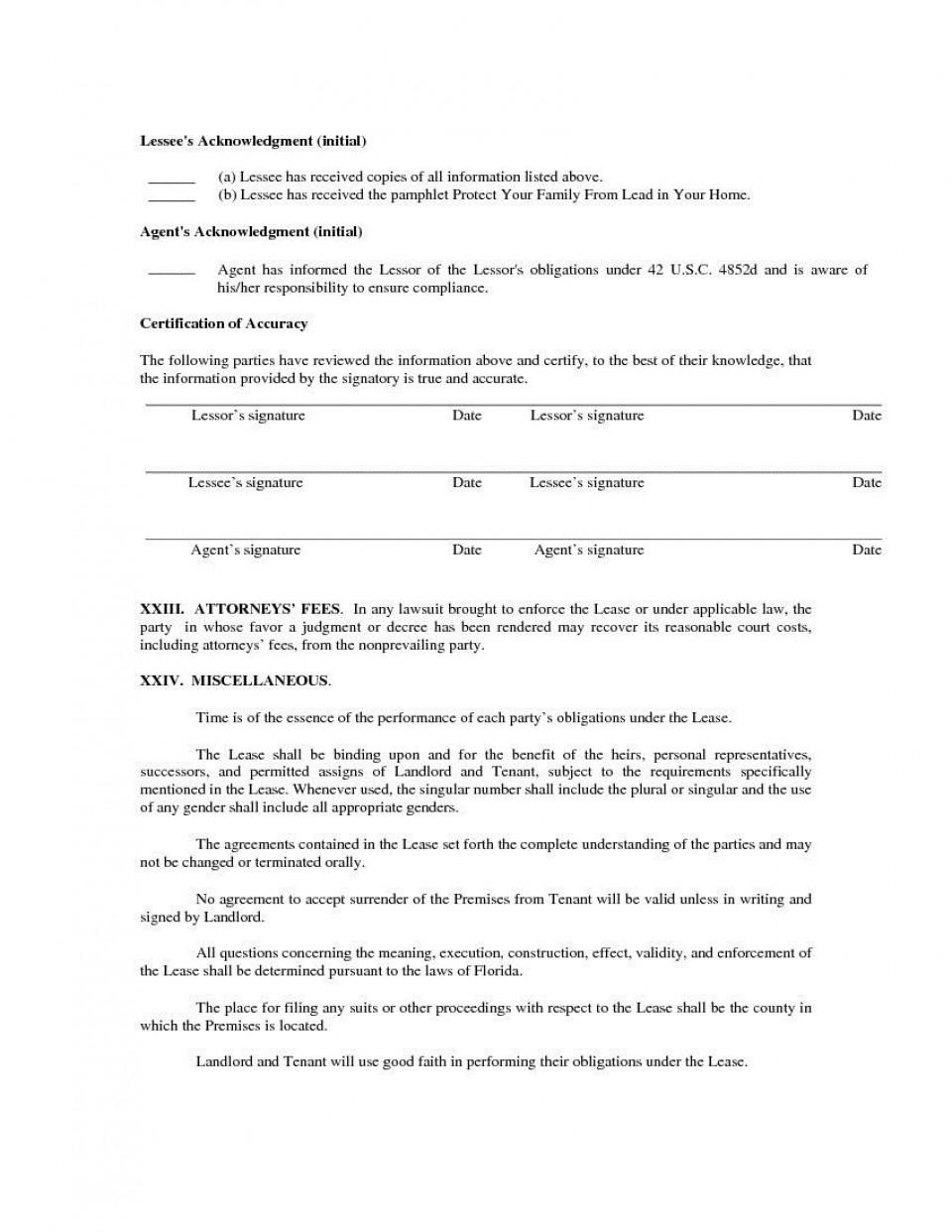 003 Top Generic Rental Lease Agreement Inspiration  Sample Ohio Md Illinoi960
