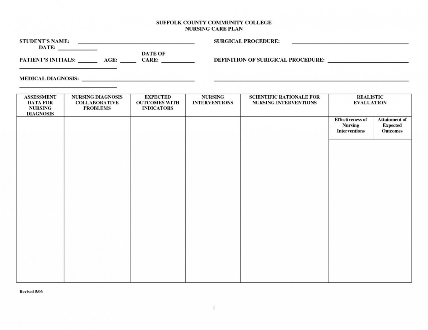 003 Top Nursing Care Plan Template Concept  Free Pdf Download1400