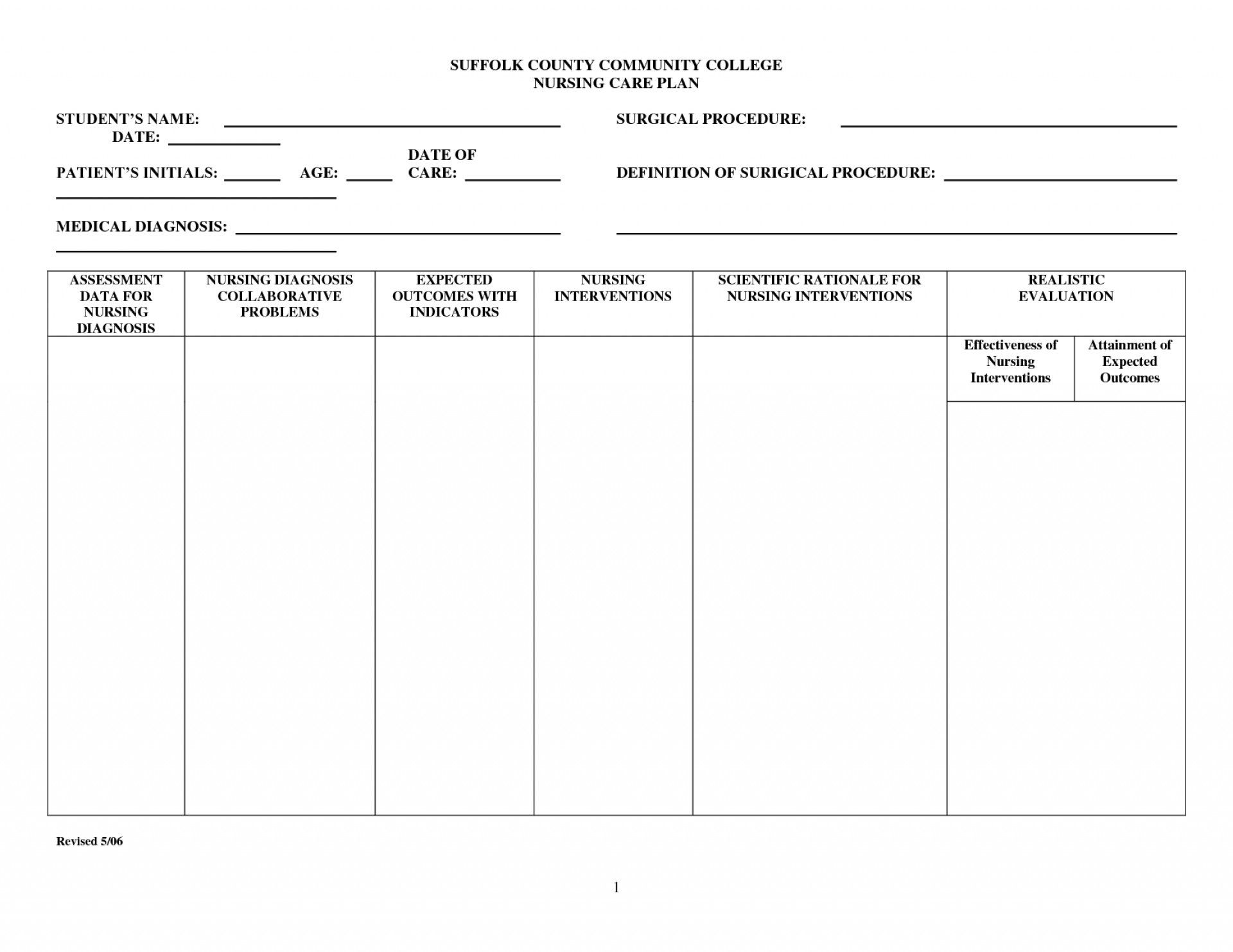 003 Top Nursing Care Plan Template Concept  Free Pdf DownloadFull