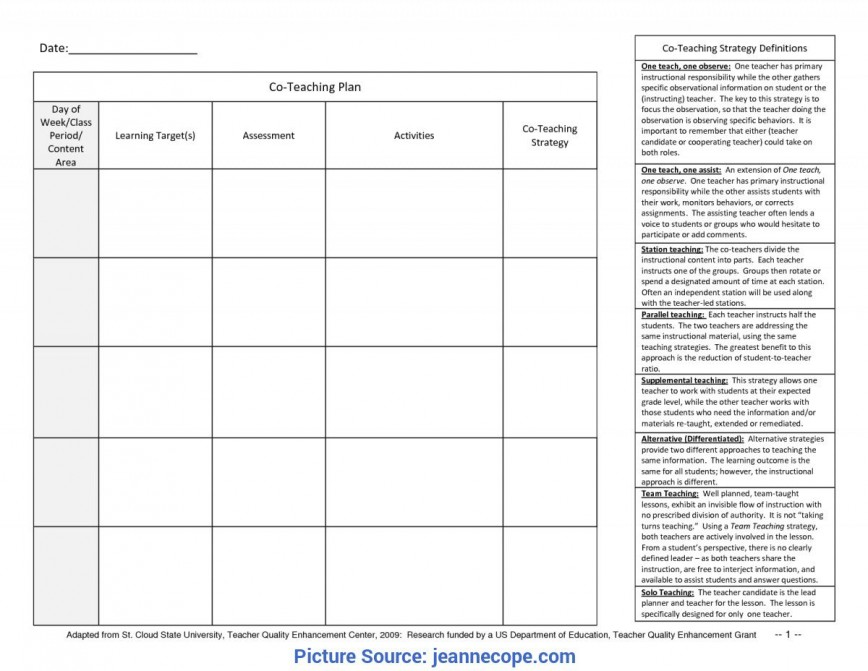 003 Top One Day Lesson Plan Template Sample  Example Word