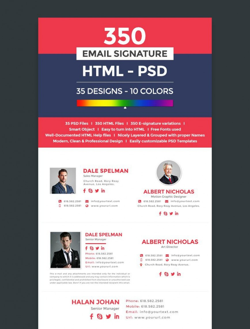 003 Top Professional Email Signature Template High Def  Free Html Download868