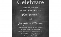003 Top Retirement Party Invitation Template Free Idea  M Word
