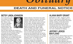 003 Top Write Your Own Obituary Template Concept