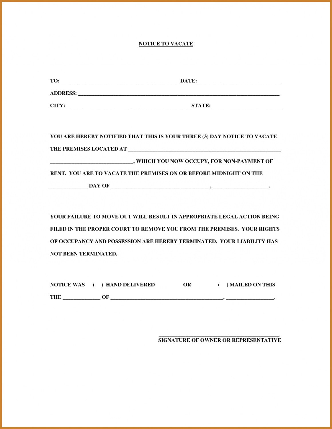 003 Unbelievable 30 Day Eviction Notice Template Picture  Pdf FormFull
