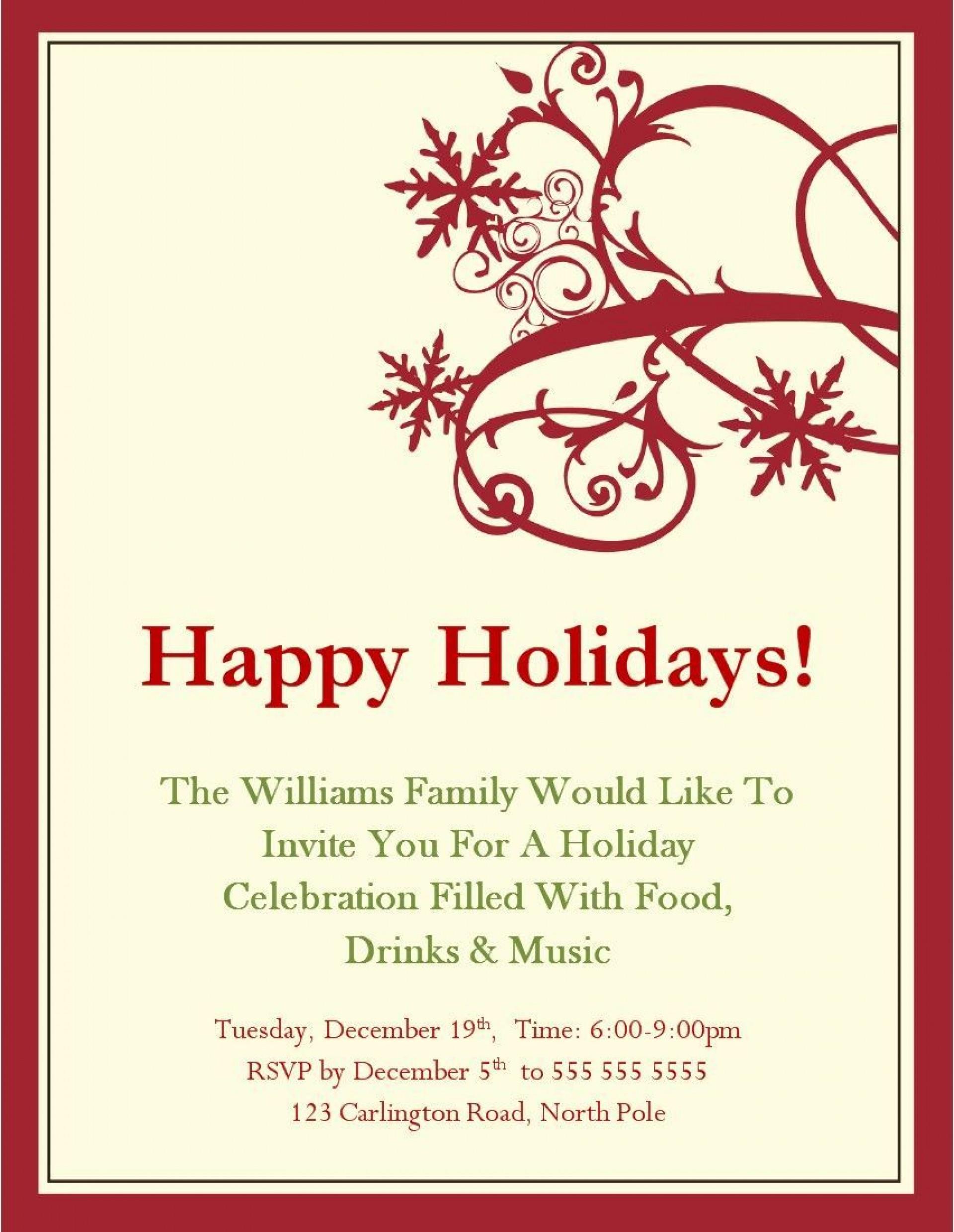 Christmas Party Invitation Templates Addictionary