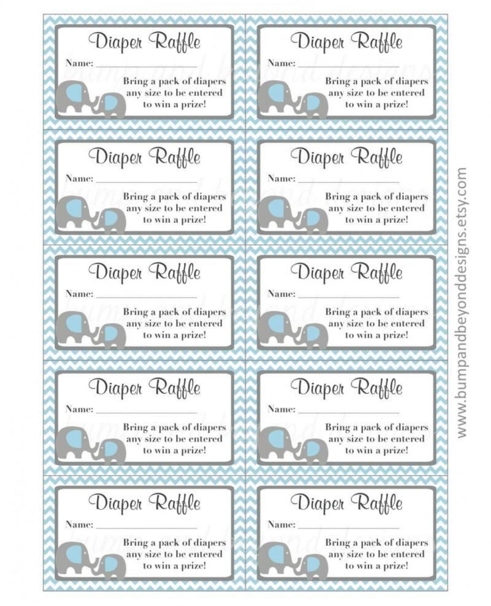 003 Unbelievable Diaper Raffle Ticket Template High Def  Free Printable Download1920