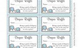 003 Unbelievable Diaper Raffle Ticket Template High Def  Free Printable Download