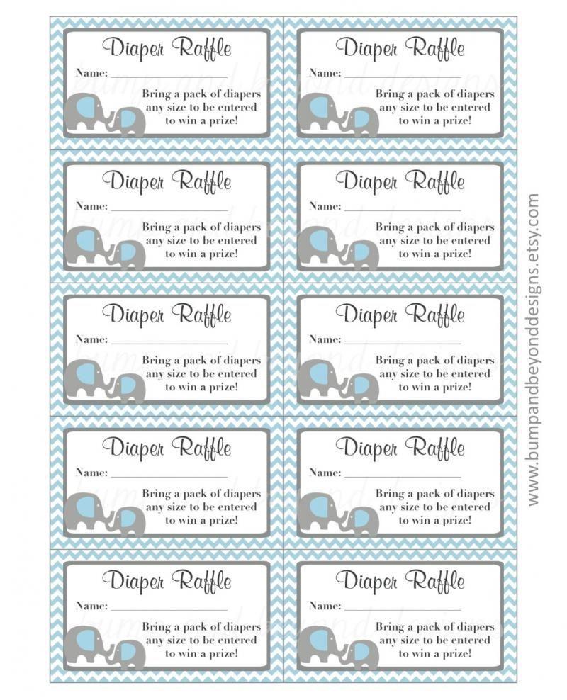 003 Unbelievable Diaper Raffle Ticket Template High Def  Free Printable DownloadFull