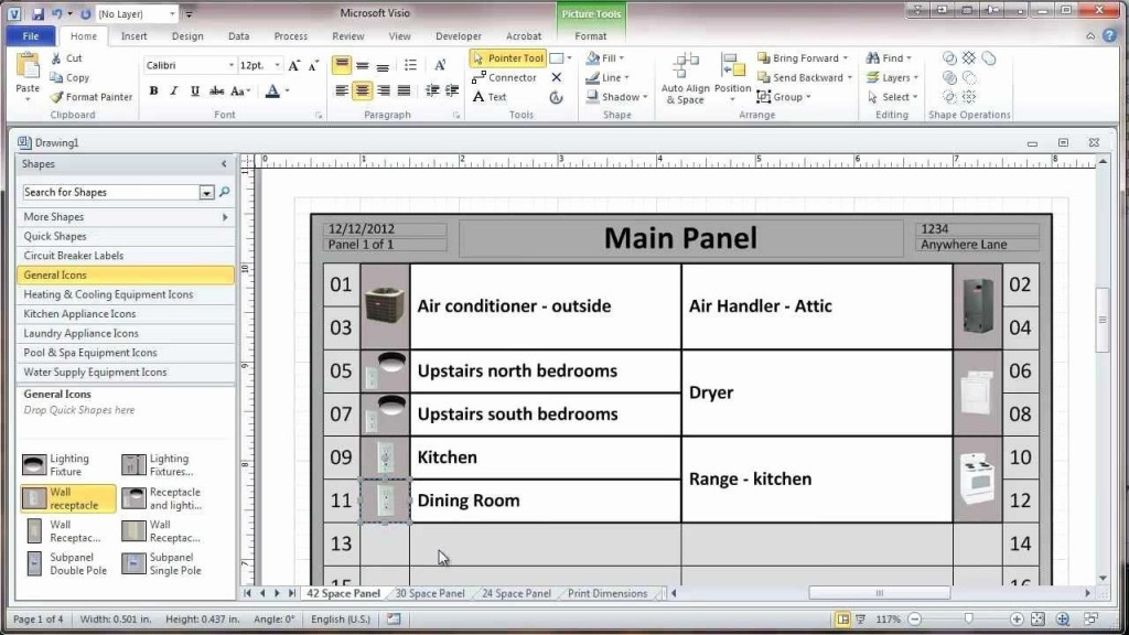 003 Unbelievable Electrical Panel Schedule Template Excel Highest Quality  Load Single PhaseLarge
