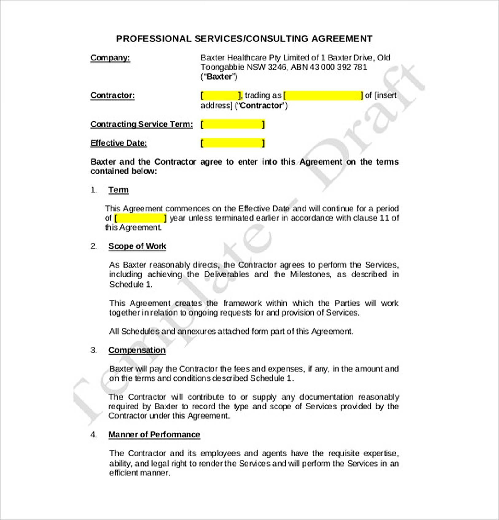 003 Unbelievable Free Consulting Agreement Template Picture  Word South Africa UkFull