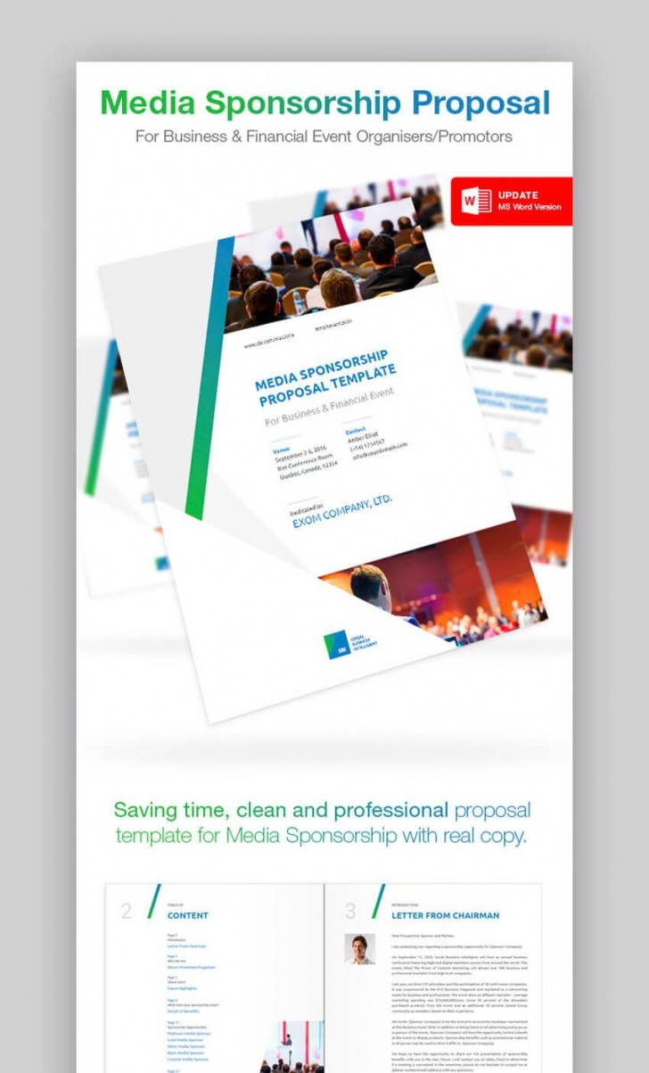 003 Unbelievable Free Event Sponsorship Form Template Design 728