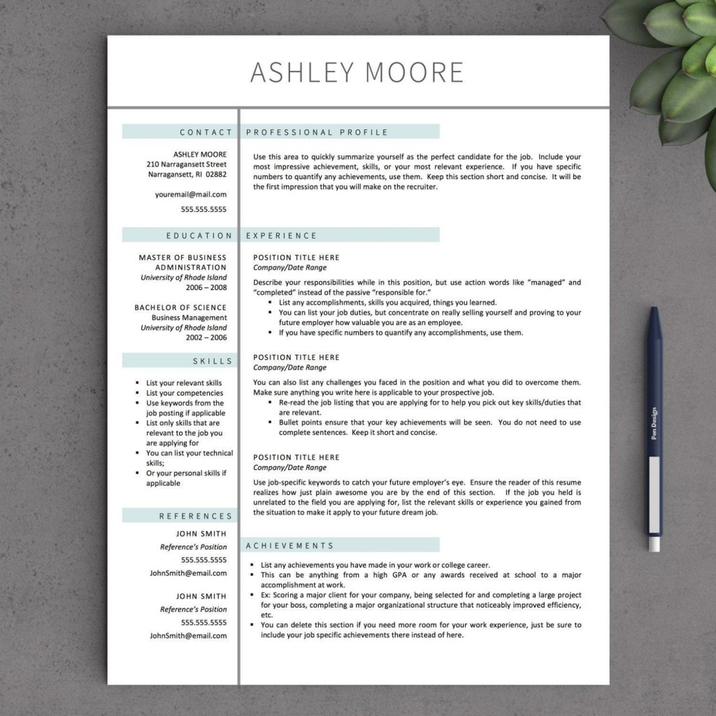 003 Unbelievable Free Resume Template For Page Highest Clarity  Pages Apple MacLarge