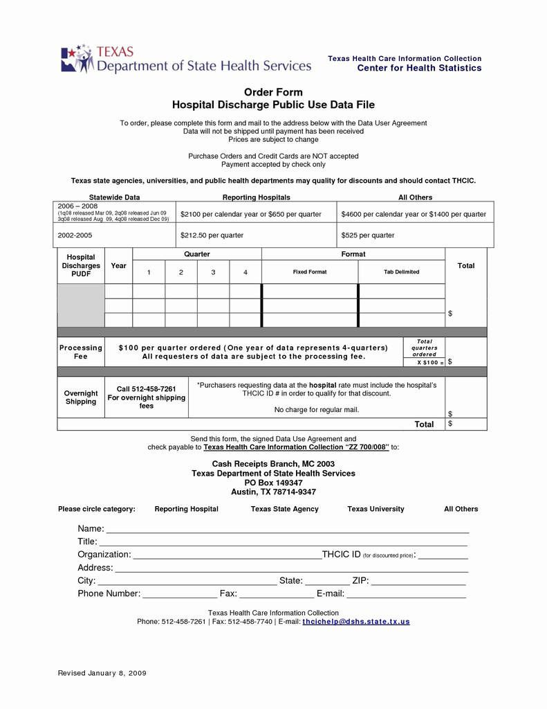 003 Unbelievable Hospital Discharge Form Template Design  PatientFull