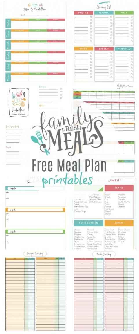 003 Unbelievable Meal Plan Printable Pdf Photo  Worksheet Downloadable Template Sheet480