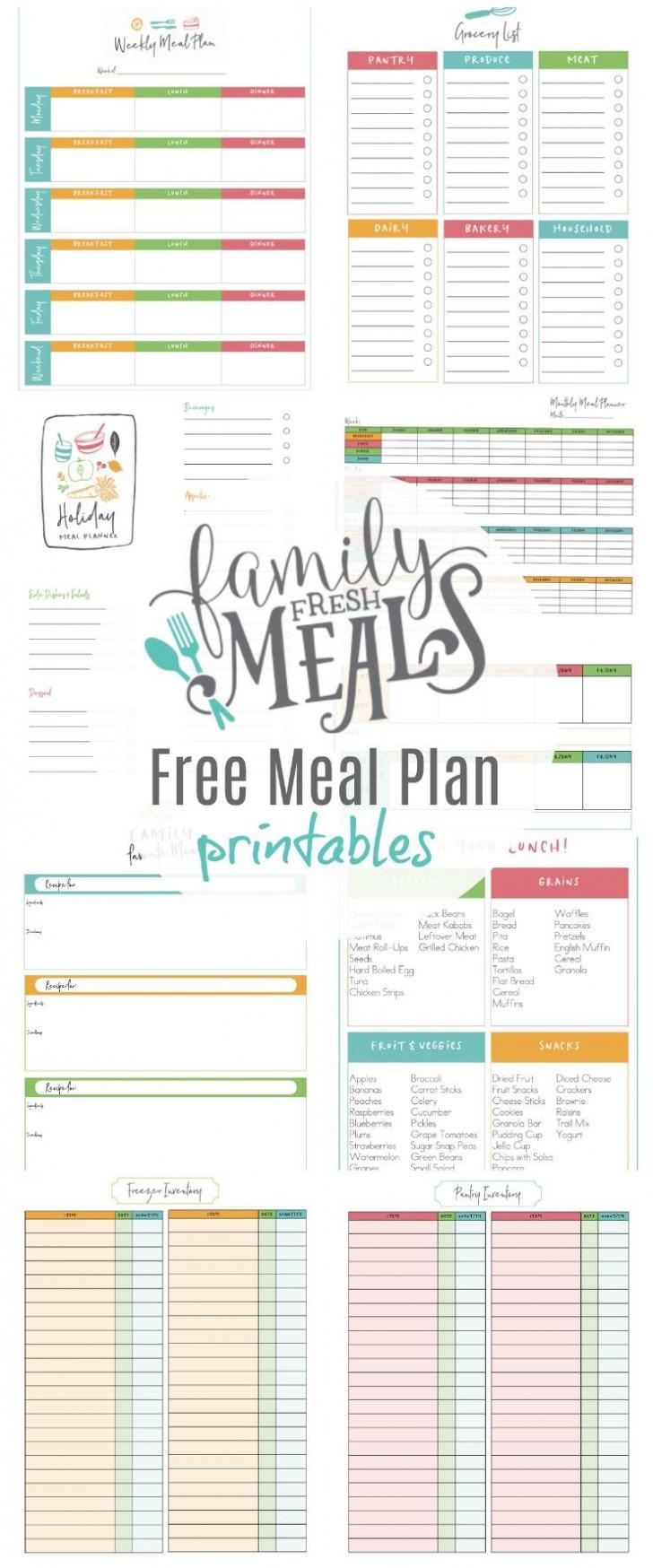 003 Unbelievable Meal Plan Printable Pdf Photo  Worksheet Downloadable Template Sheet728