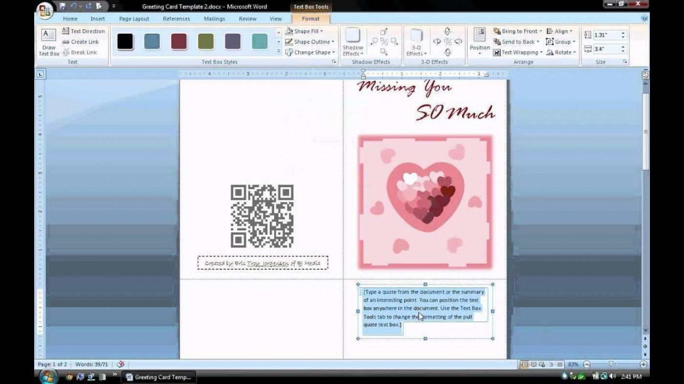 003 Unbelievable Microsoft Word Card Template Highest Clarity  Birthday Download Busines Free1400