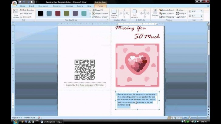 003 Unbelievable Microsoft Word Card Template Highest Clarity  Birthday Download Busines Free728
