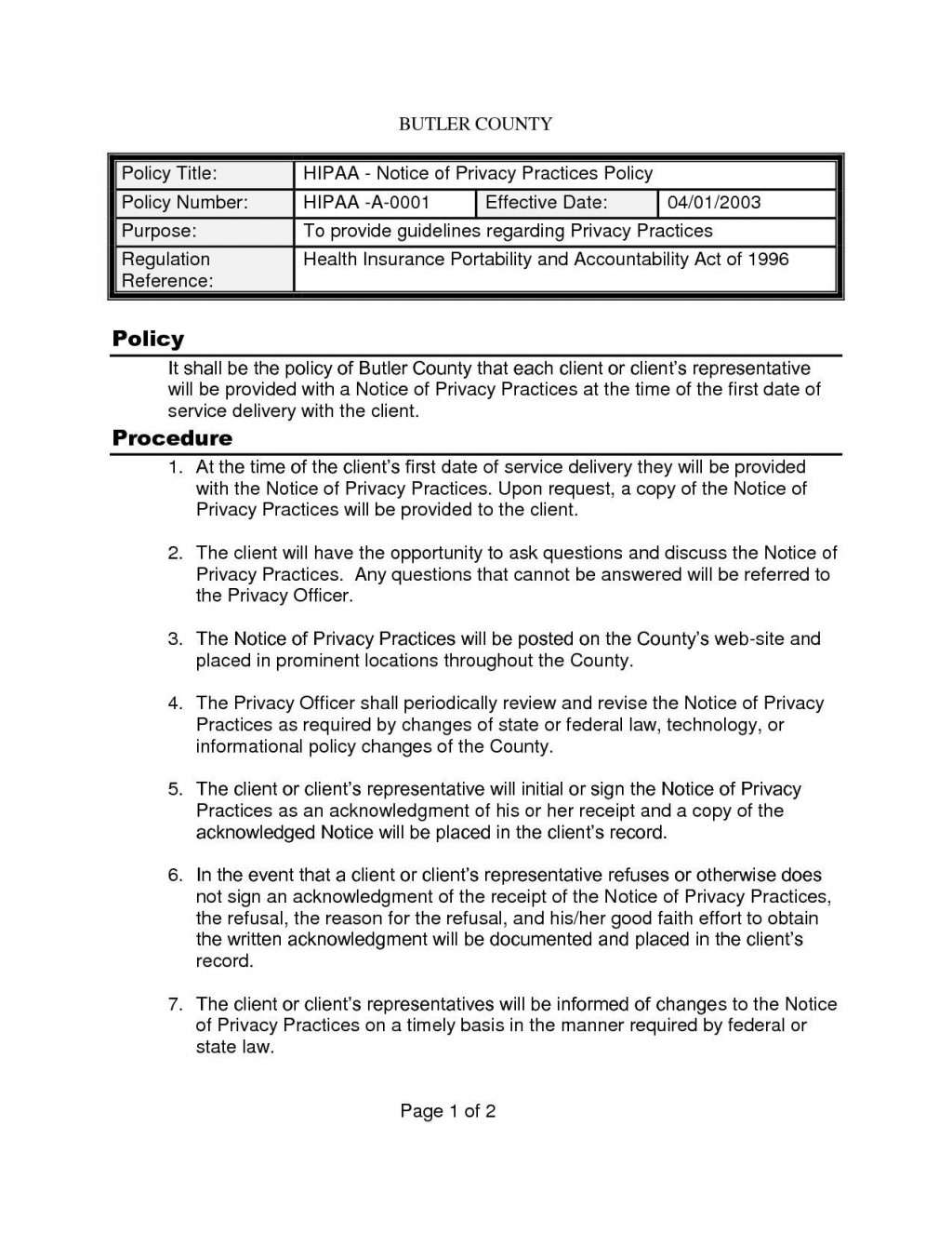 003 Unbelievable Policy And Procedure Template High Def  Format Example Manual For Mental Health FreeLarge