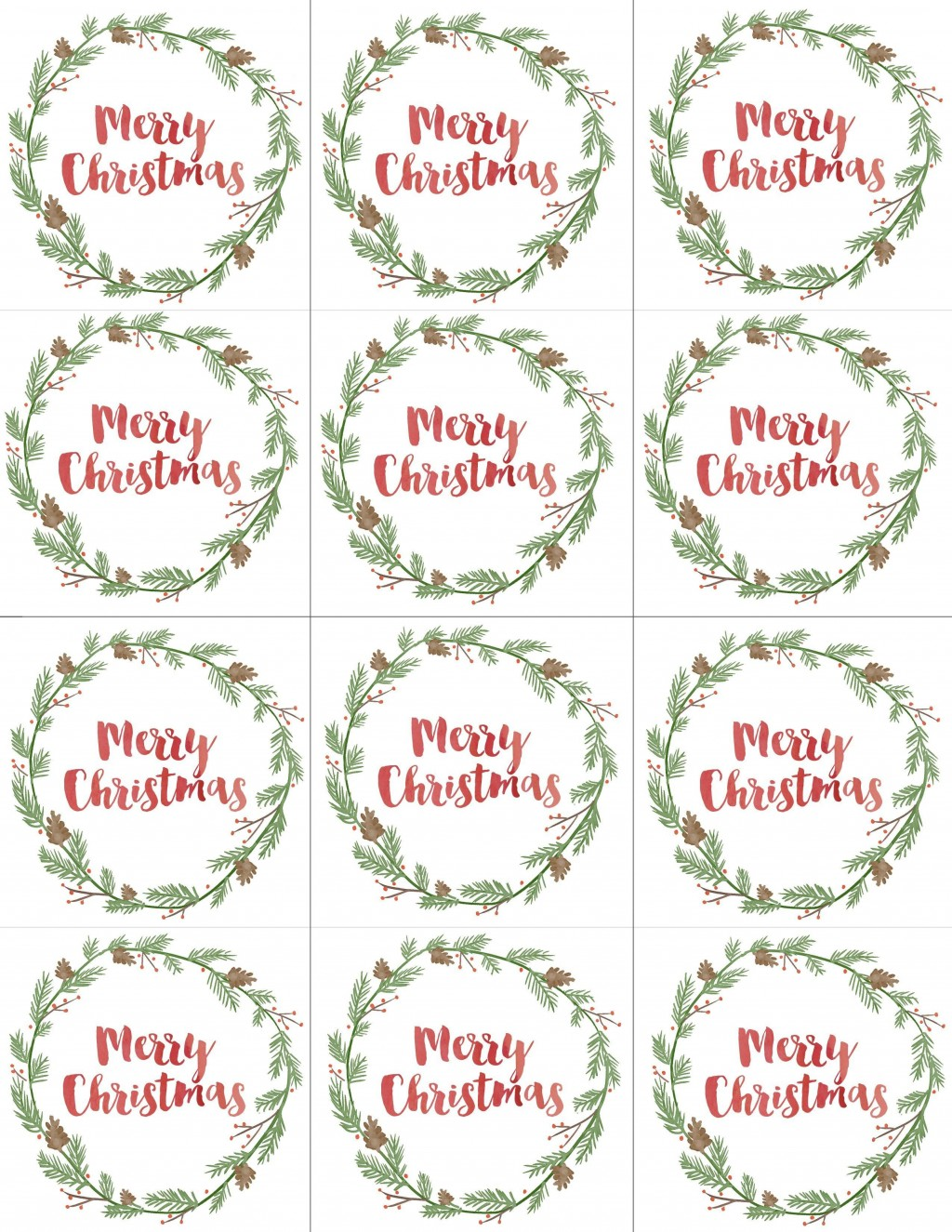 003 Unbelievable Printable Christma Gift Tag Template Concept  Templates Free Holiday For WordLarge