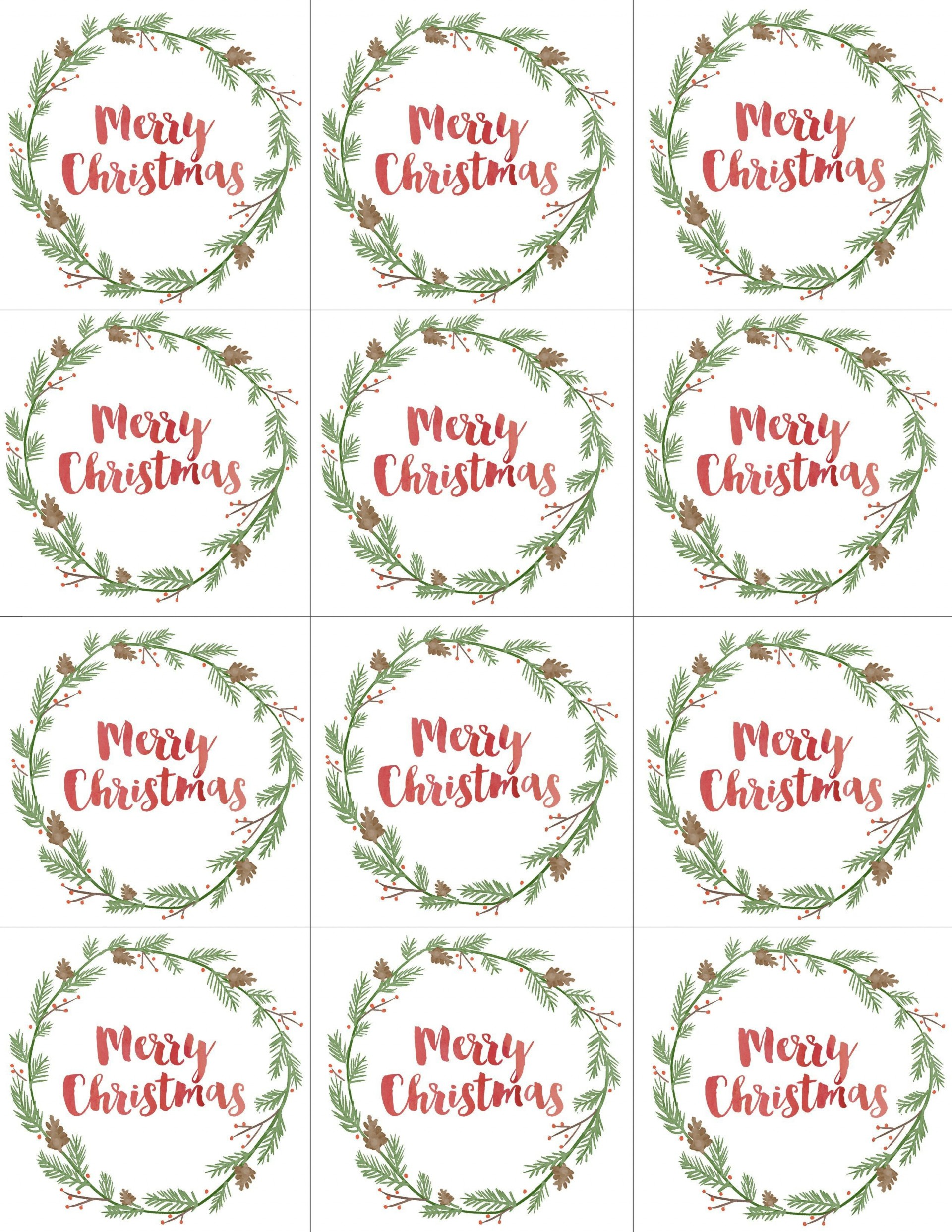 003 Unbelievable Printable Christma Gift Tag Template Concept  Templates Free Holiday For Word1920