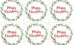 003 Unbelievable Printable Christma Gift Tag Template Concept  Templates Free Holiday For Word