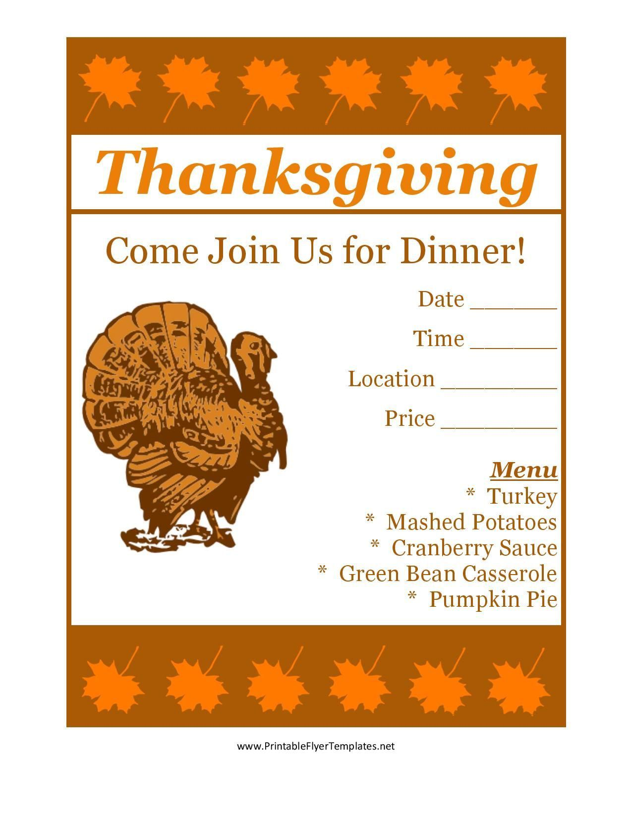 003 Unbelievable Thanksgiving Flyer Template Free Idea  Food Drive PartyFull