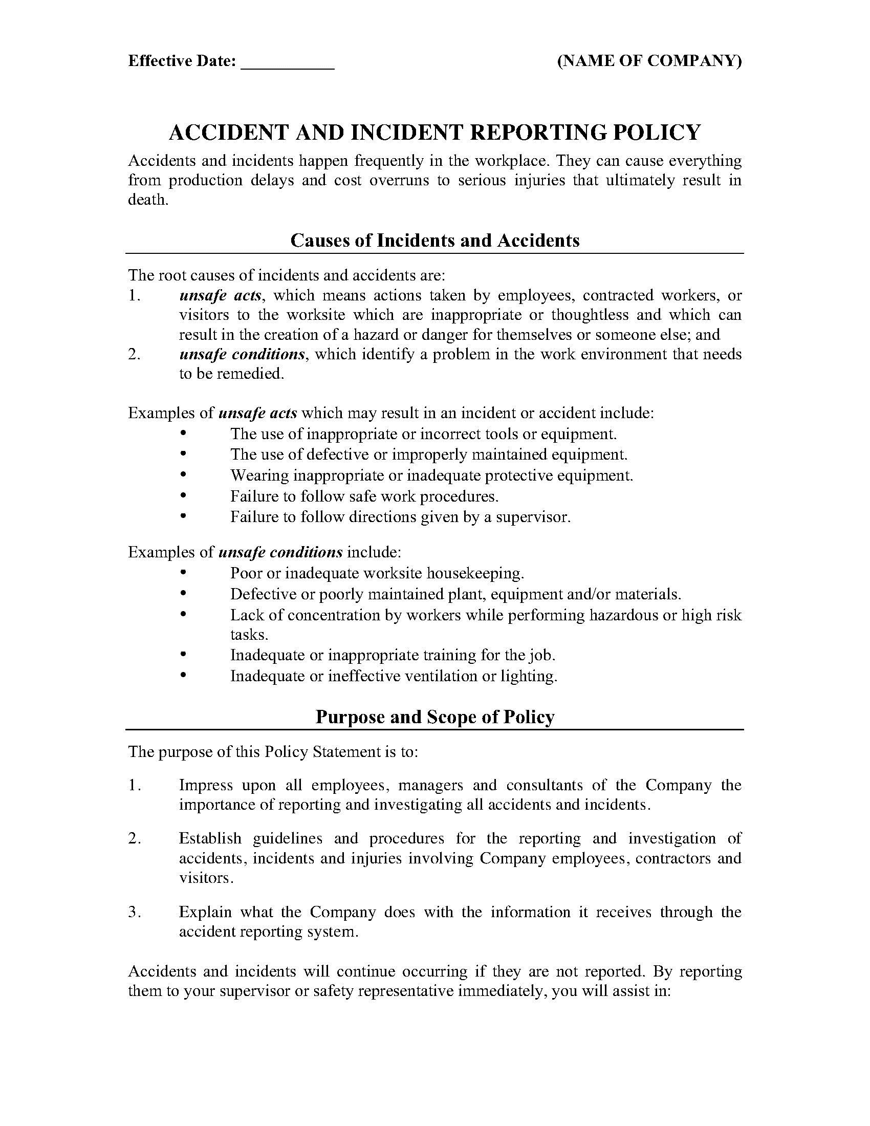 003 Unbelievable Workplace Incident Report Template Ontario Concept  FormFull