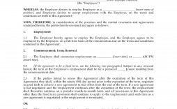 003 Unforgettable Australian Employment Contract Template Free Example