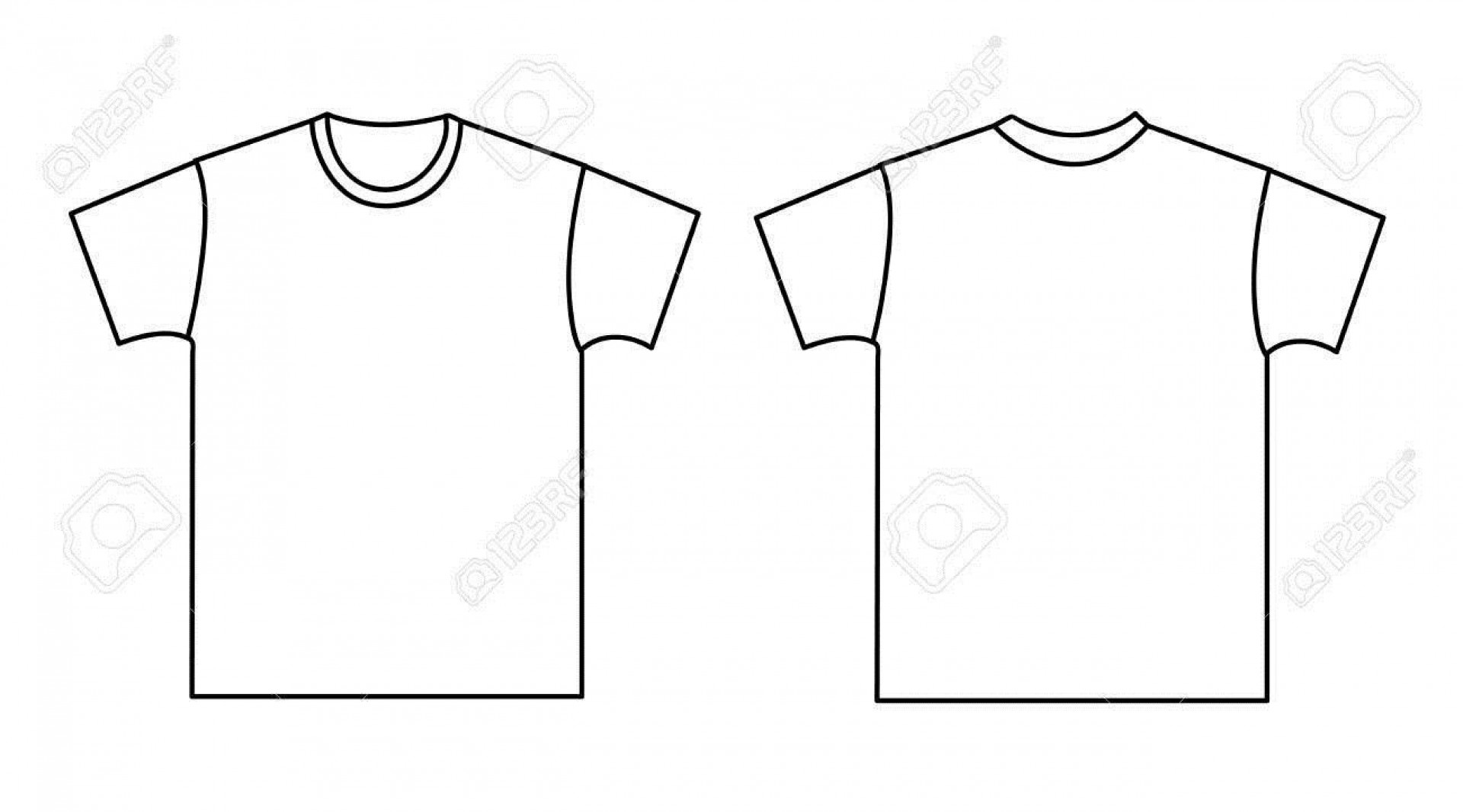 003 Unforgettable Blank Tee Shirt Template Highest Quality  T Design Pdf Free T-shirt Front And Back Download1920