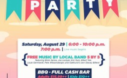 003 Unforgettable Block Party Flyer Template Concept  Templates Free
