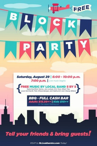 003 Unforgettable Block Party Flyer Template Concept  Free320
