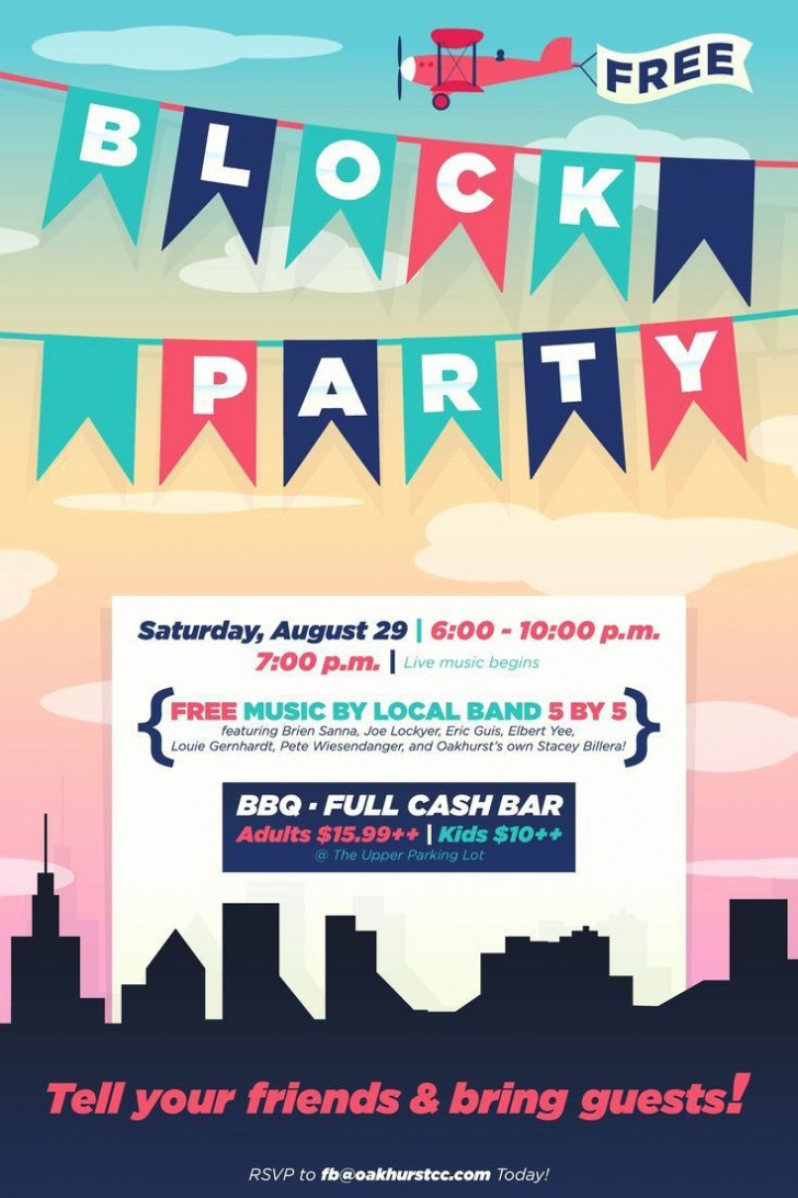 003 Unforgettable Block Party Flyer Template Concept  Free728