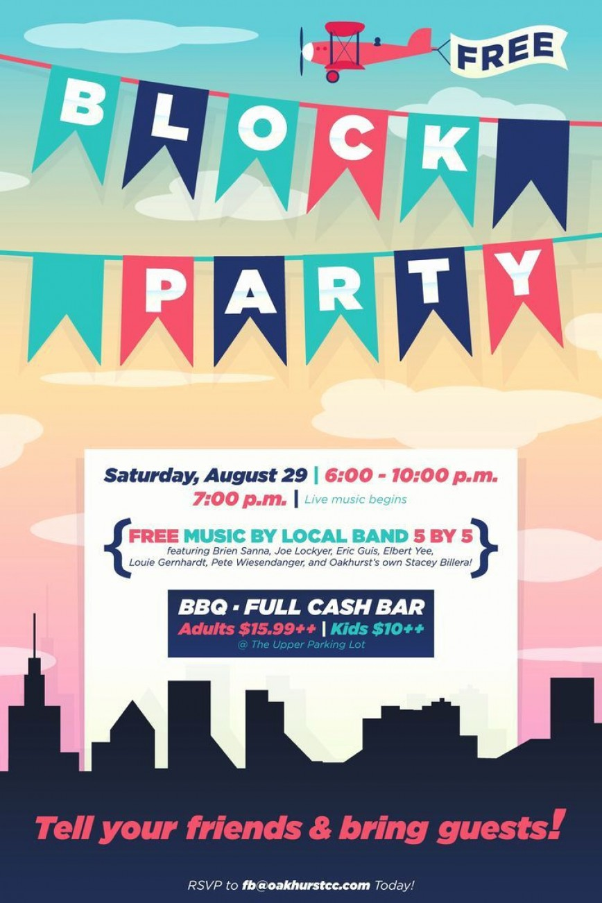 003 Unforgettable Block Party Flyer Template Concept  Free868