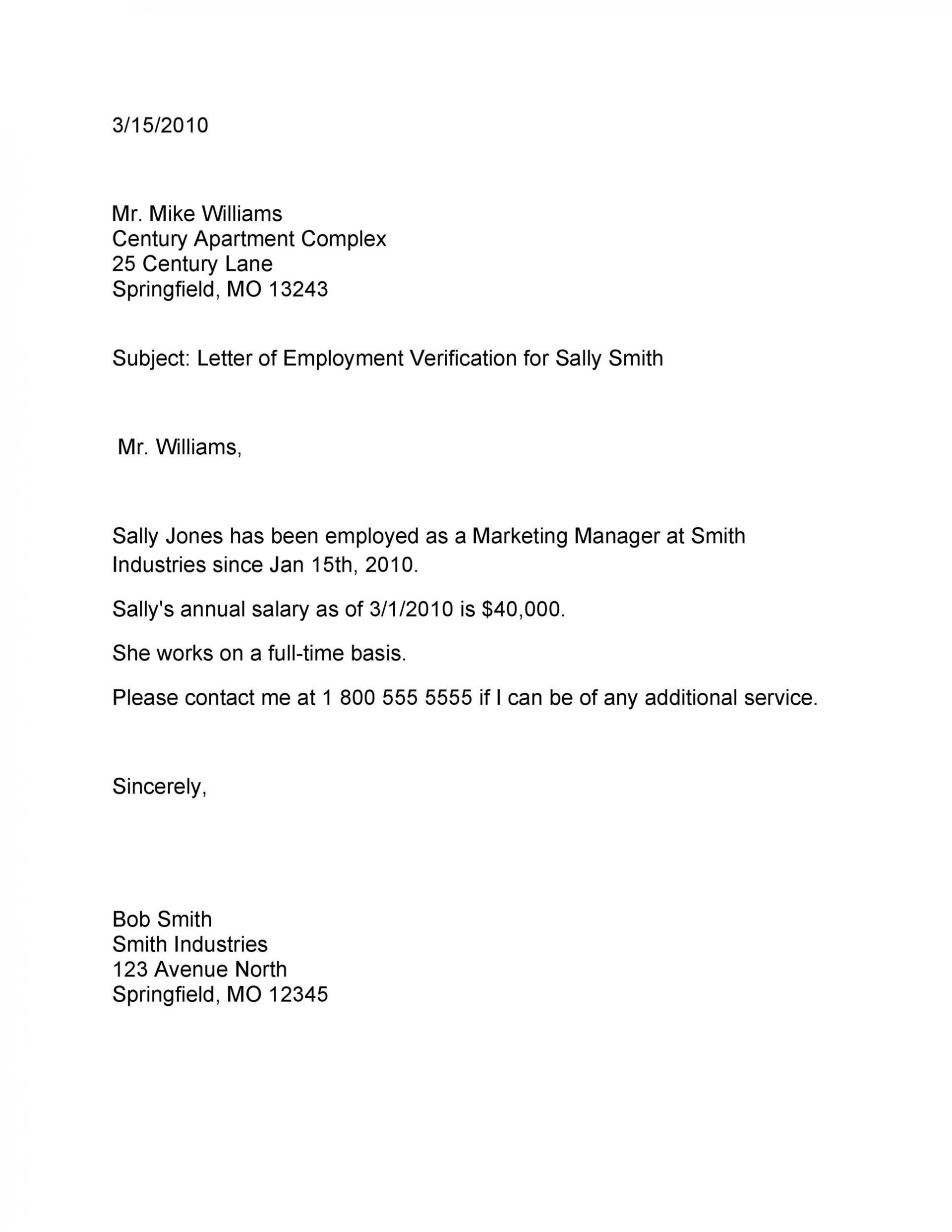 003 Unforgettable Employment Verification Letter Template Word Photo  South Africa1920